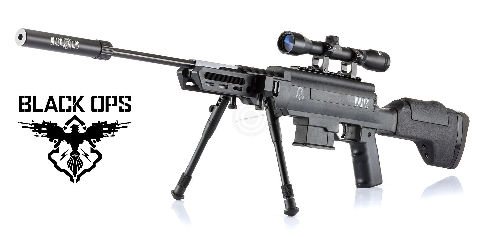carabine plombs black ops sniper tactical cal 4 5mm armes de loisirs sur armurerie lavaux. Black Bedroom Furniture Sets. Home Design Ideas