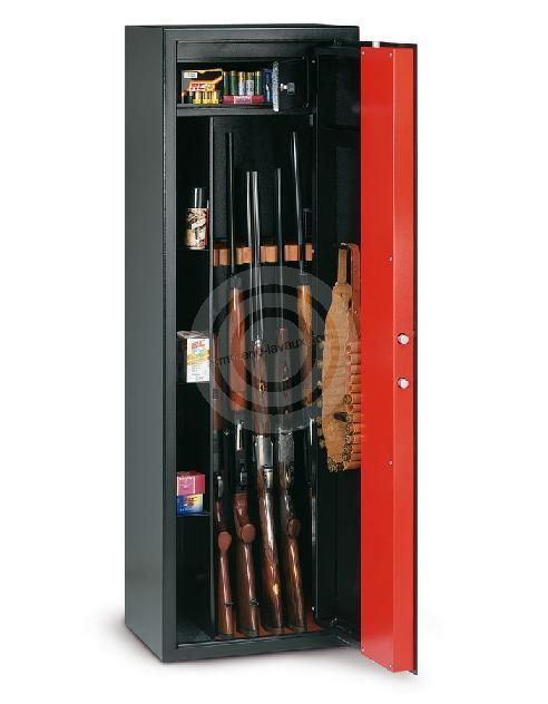 Armoire à fusils T/705R - 5 armes (coffre intérieur et compartiments latéraux)