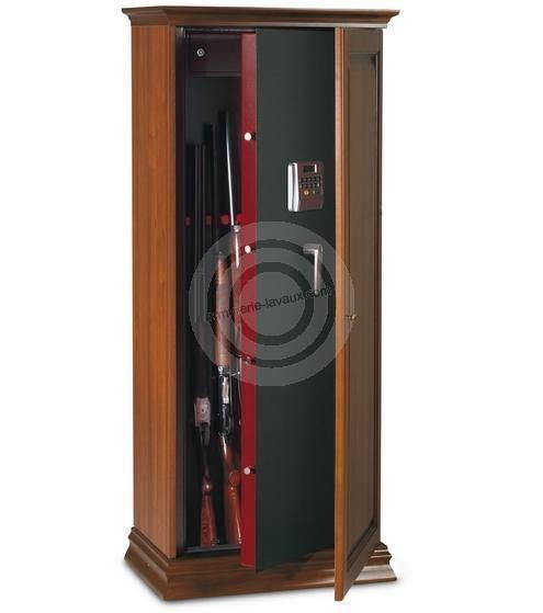 Armoire à fusils TCE/10L - 10 armes avec lunettes (coffre intérieur et serrure électronique)