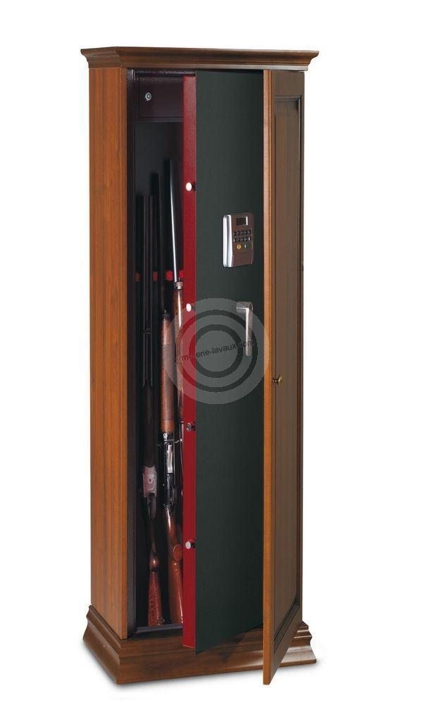 Armoire à fusils TCE/5L - 5 armes (coffre intérieur et serrure électronique)