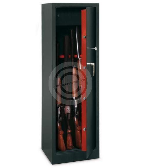 Armoire � fusils TCH/10 - 10 armes avec lunettes  (coffre int�rieur)