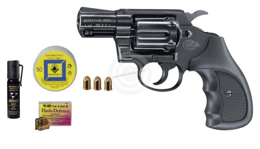 Revolver COLT Detectiv Spécial Bronzé cal.9mm R ''Pack'' UMAREX
