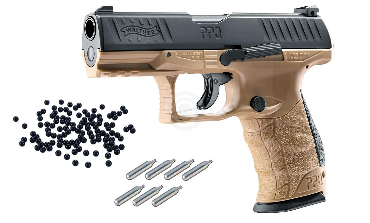 WALTHER PPQ M2 FDE T4E cal.43 ''UMAREX'' Pack défense