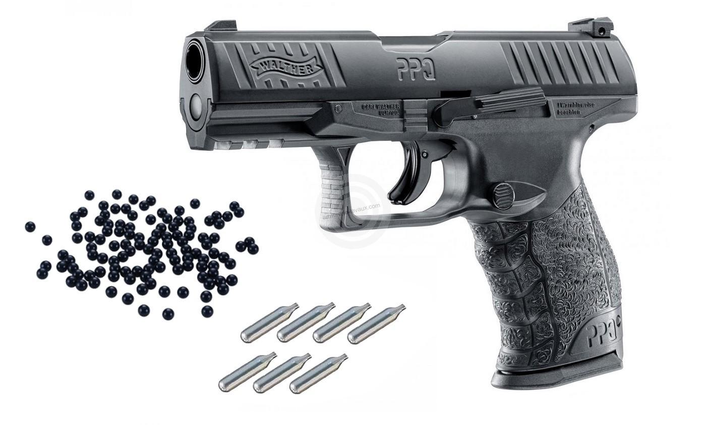 WALTHER PPQ M2 Black RAM cal.43 ''UMAREX'' Pack défense