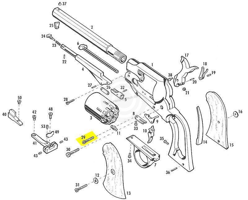 Vis axe d�tente et arretoir PIETTA Remington