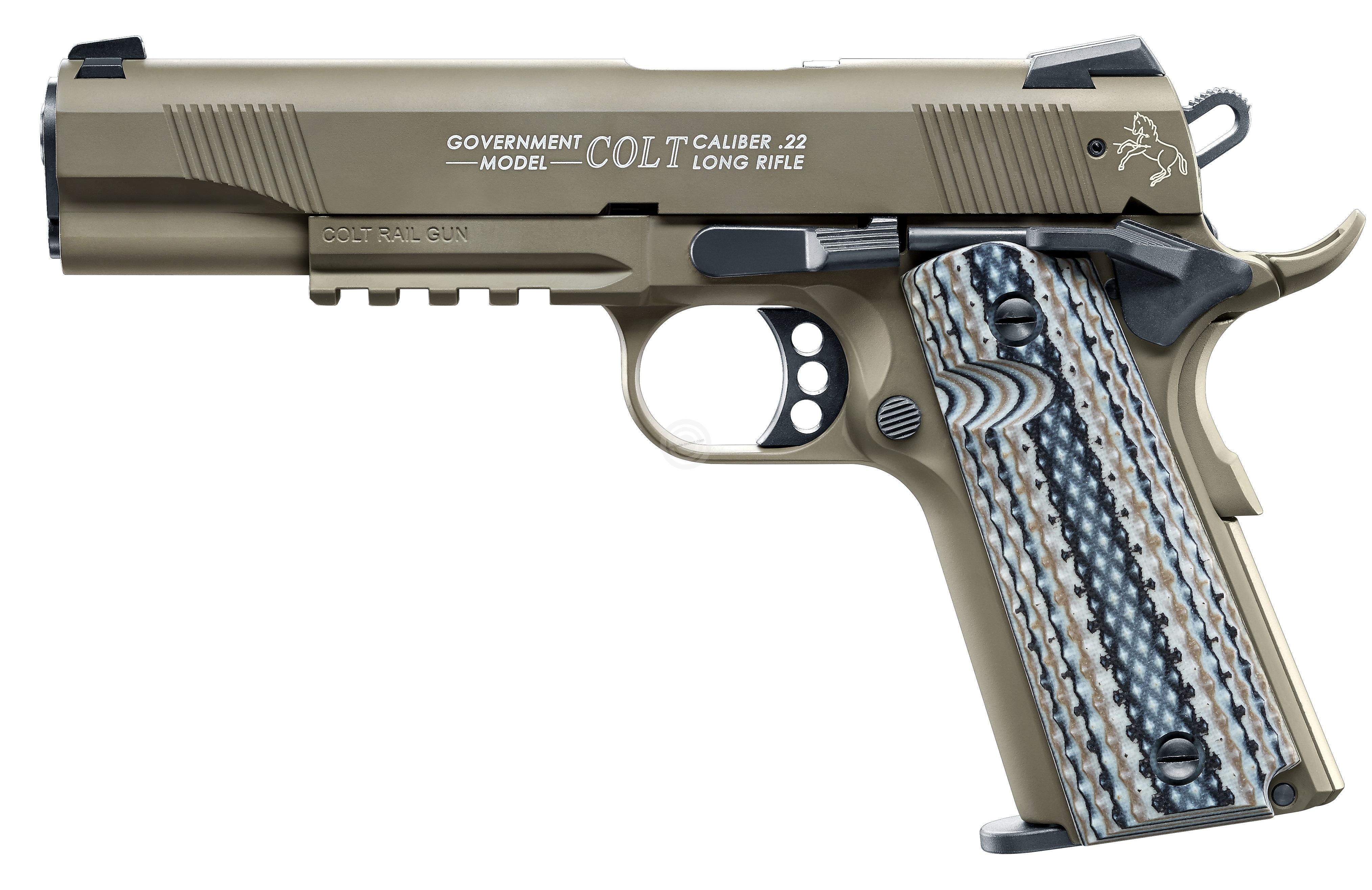 Pistolet WALTHER COLT 1911 Rail Gun FDE cal.22 Lr