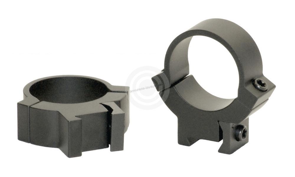 Montage acier WARNE pour carabine 22Lr rail de 11mm diamètre 25.4mm (BH13mm)