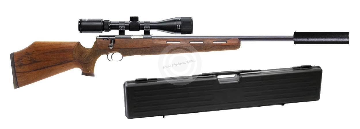 Carabine 22LR WEIHRAUCH HW 66 Jagd Match ''Kit SNIPER HAWKE 6-24x44 Mildot''
