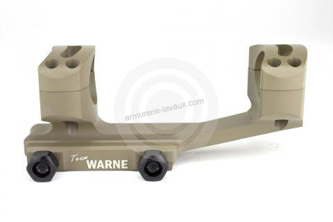 Montage Tactical WARNE AR15 diamètre 30mm - rail Weaver 21mm (BH 21mm)