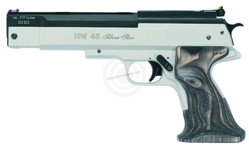 Pistolet à plombs WEIHRAUCH HW 45 Silver Star