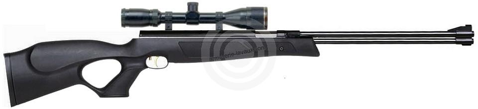 Carabine à air comprimé WEIHRAUCH HW 77 Black Line ''lunette BAUER 3-9x40''