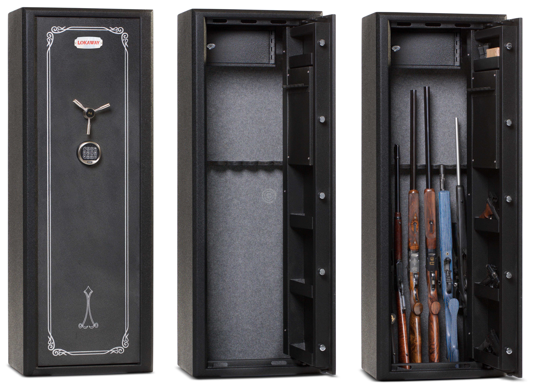 coffre pour armes lokaway deluxe 14 armes avec lunettes. Black Bedroom Furniture Sets. Home Design Ideas