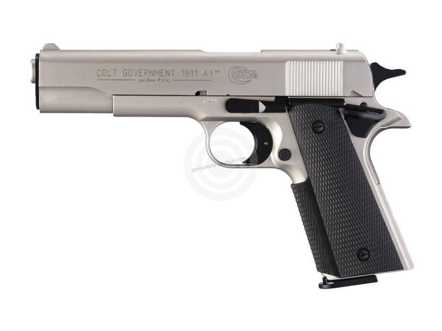 Pistolet COLT Governement 1911 A1 Nickelé cal.9mm UMAREX