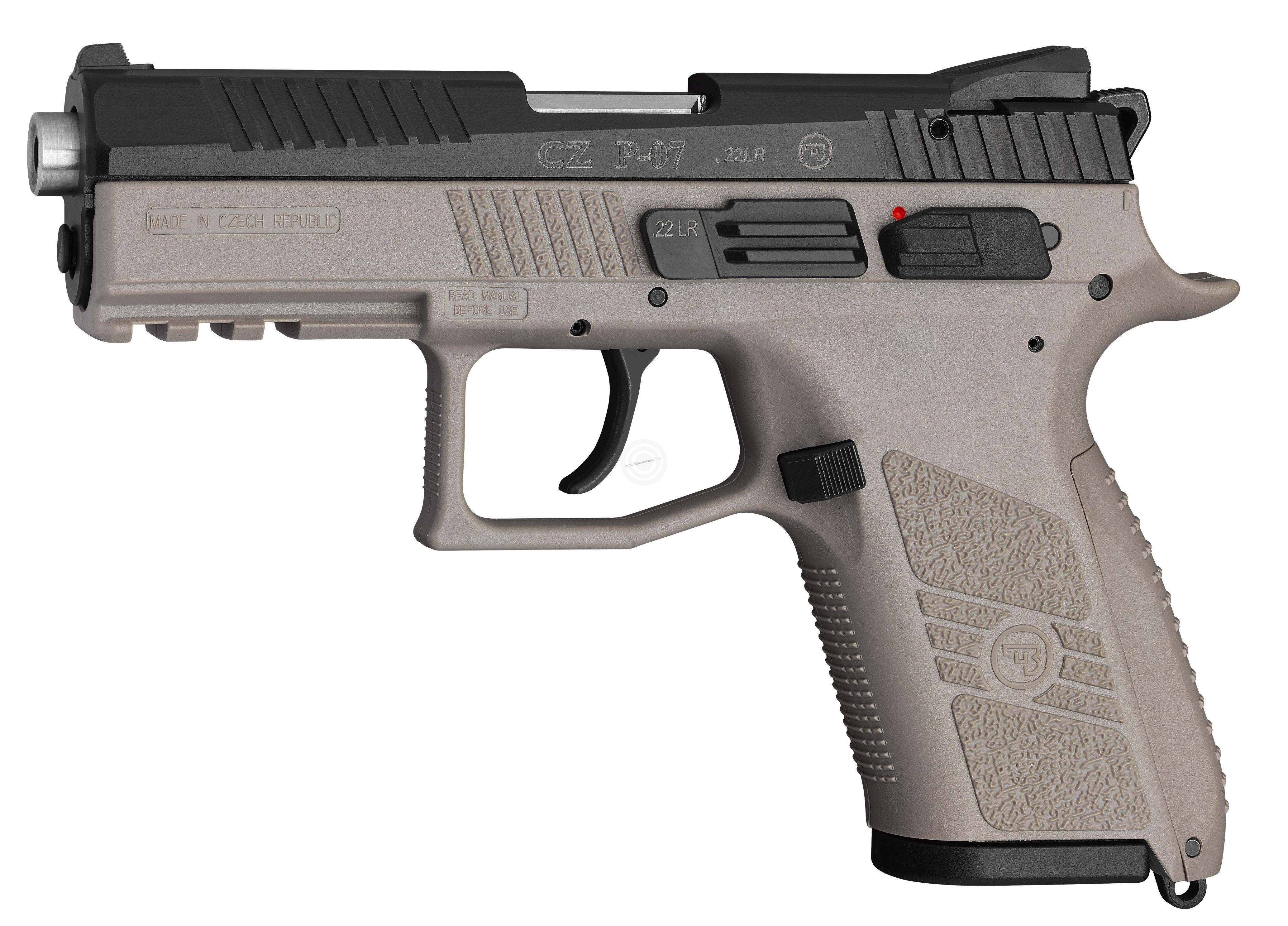 pistolet cz p 07 kadet calibre 22 lr armes cat gorie b sur armurerie lavaux. Black Bedroom Furniture Sets. Home Design Ideas
