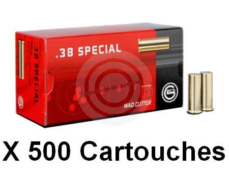 GECO cal.38 Spécial Wad Cutter /500 cartouches