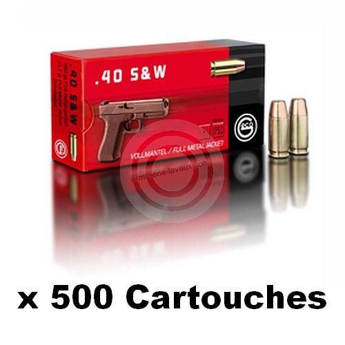 GECO cal.40 S&W FMJ /500 Cartouches