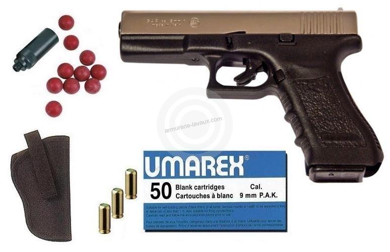 Kit D�fense Pistolet BRUNI GAP ''type GLOCK'' Nickel� Cal.9mm