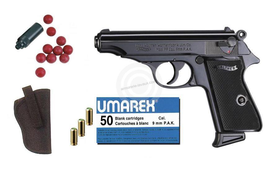 Kit Défense Pistolet WALTHER PP Bronzé cal.9mm PA UMAREX