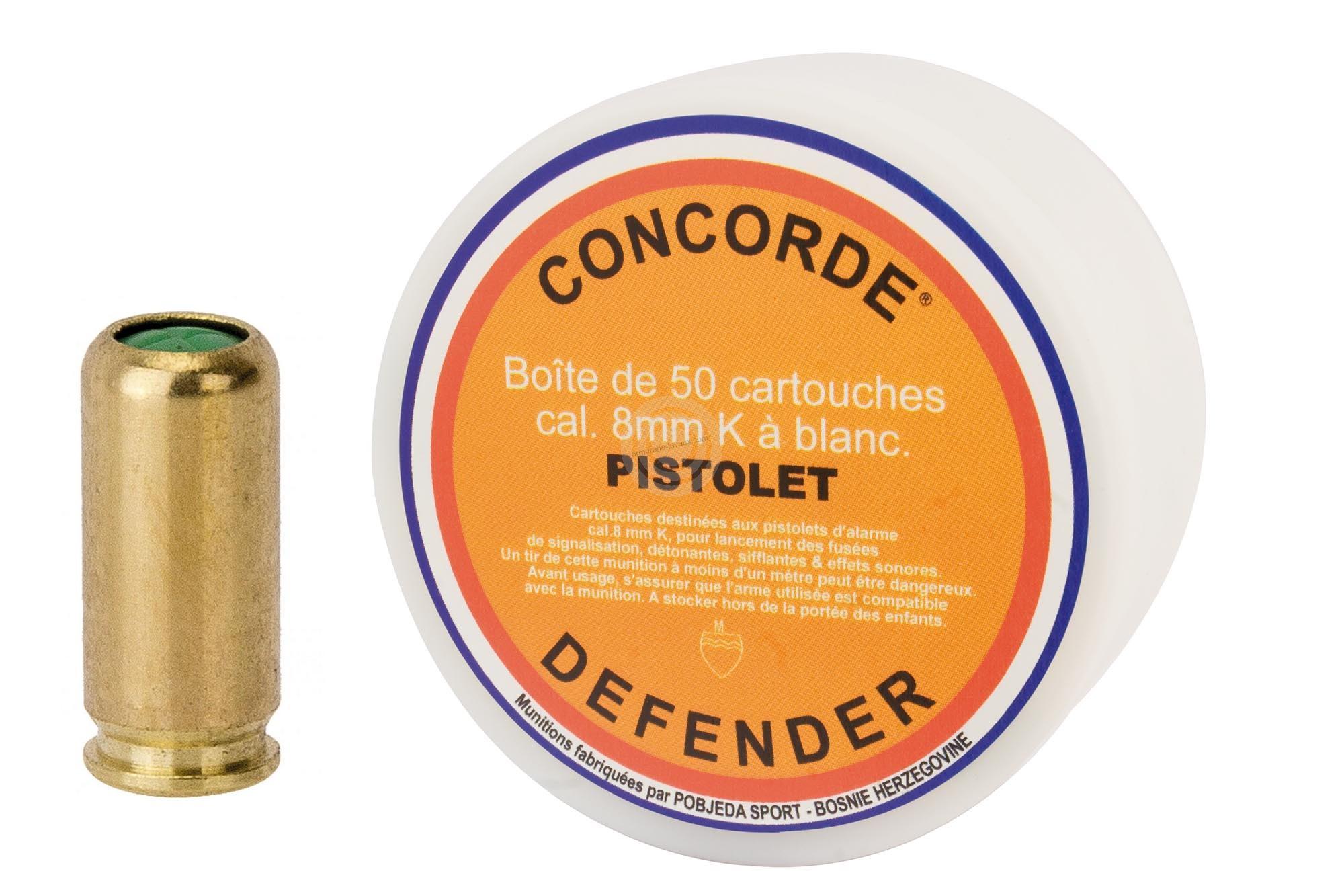Cartouches 8mm Pistolet à blanc/50 CONCORDE