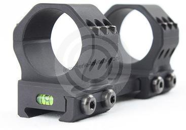 Montage monobloc TIER-ONE UNIMOUNTS avec niveau à bulle (21 mm-diam.30mm BH17)