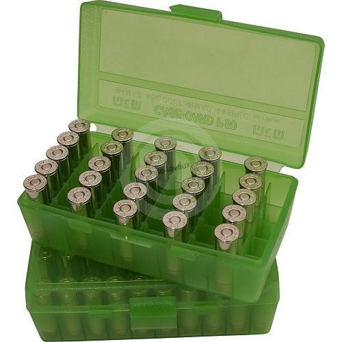 Boite à munitions MTM 50 cartouches cal.38 Sp - 357 Magnum