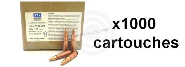 Munitions de surplus STV FMJ cal.7.62x39 (1000 cartouches)