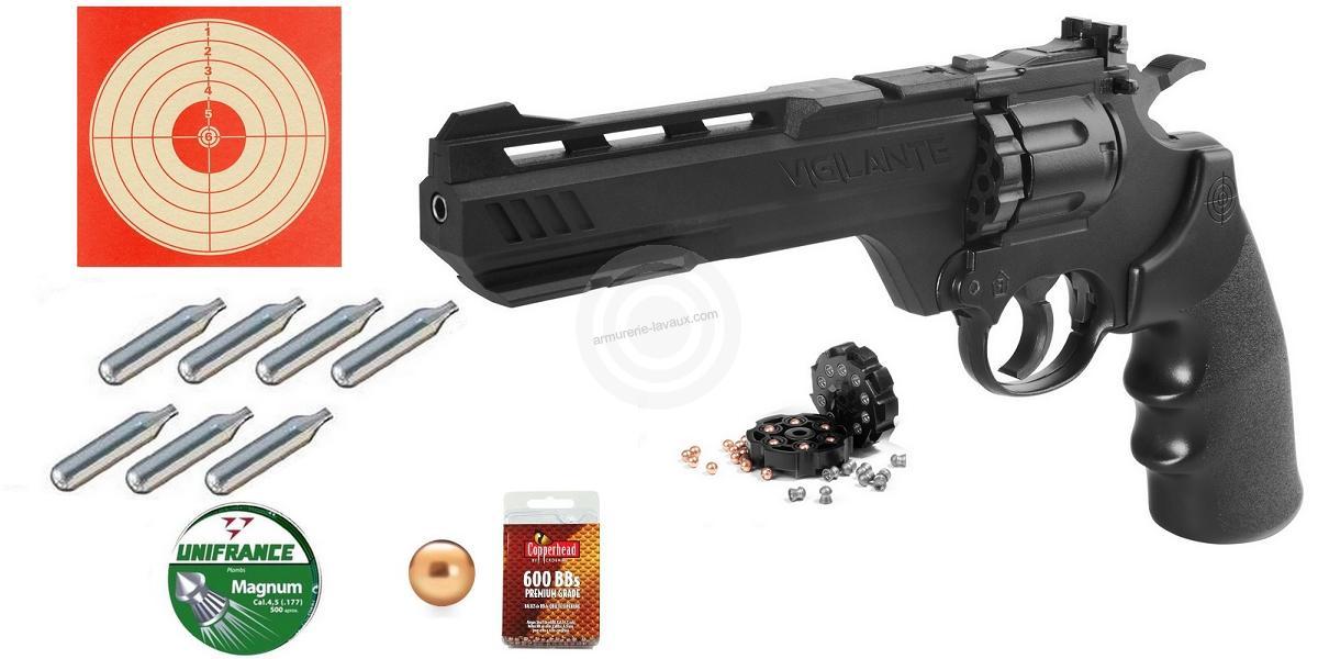 Revolver 357 magnum python vigilante pack crosman cal 4 5mm armes de loisirs sur armurerie - Pistolet a plomb pas cher ...