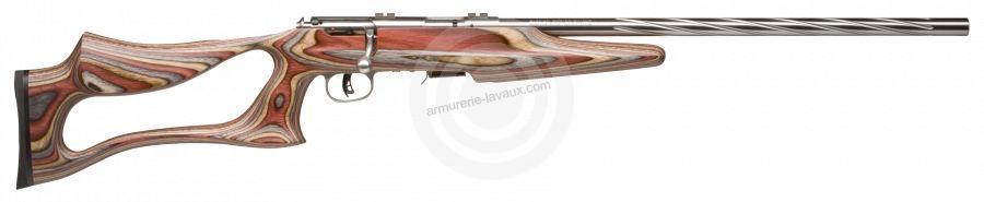 Carabine cal.17 HMR SAVAGE Varmint Lamellé INOX Flutage Spiral MARK 93R17 BSEV
