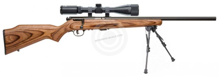 Carabine 22LR SAVAGE Varmint Lamellé MARK II BV avec lunette LYNX Varmint 6-24x42 AO ''Kit SNIPER HARRIS''