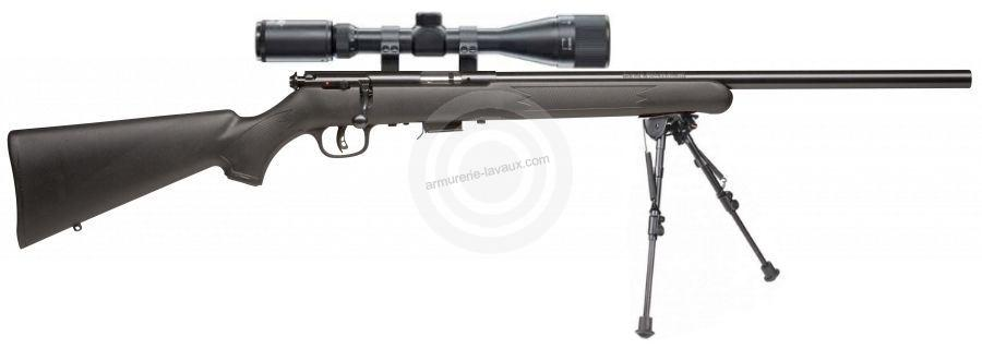 Carabine 22LR SAVAGE Varmint synth�tique MARK II FV avec lunette LYNX Varmint 6-24x42 AO ''Kit SNIPER HARRIS''