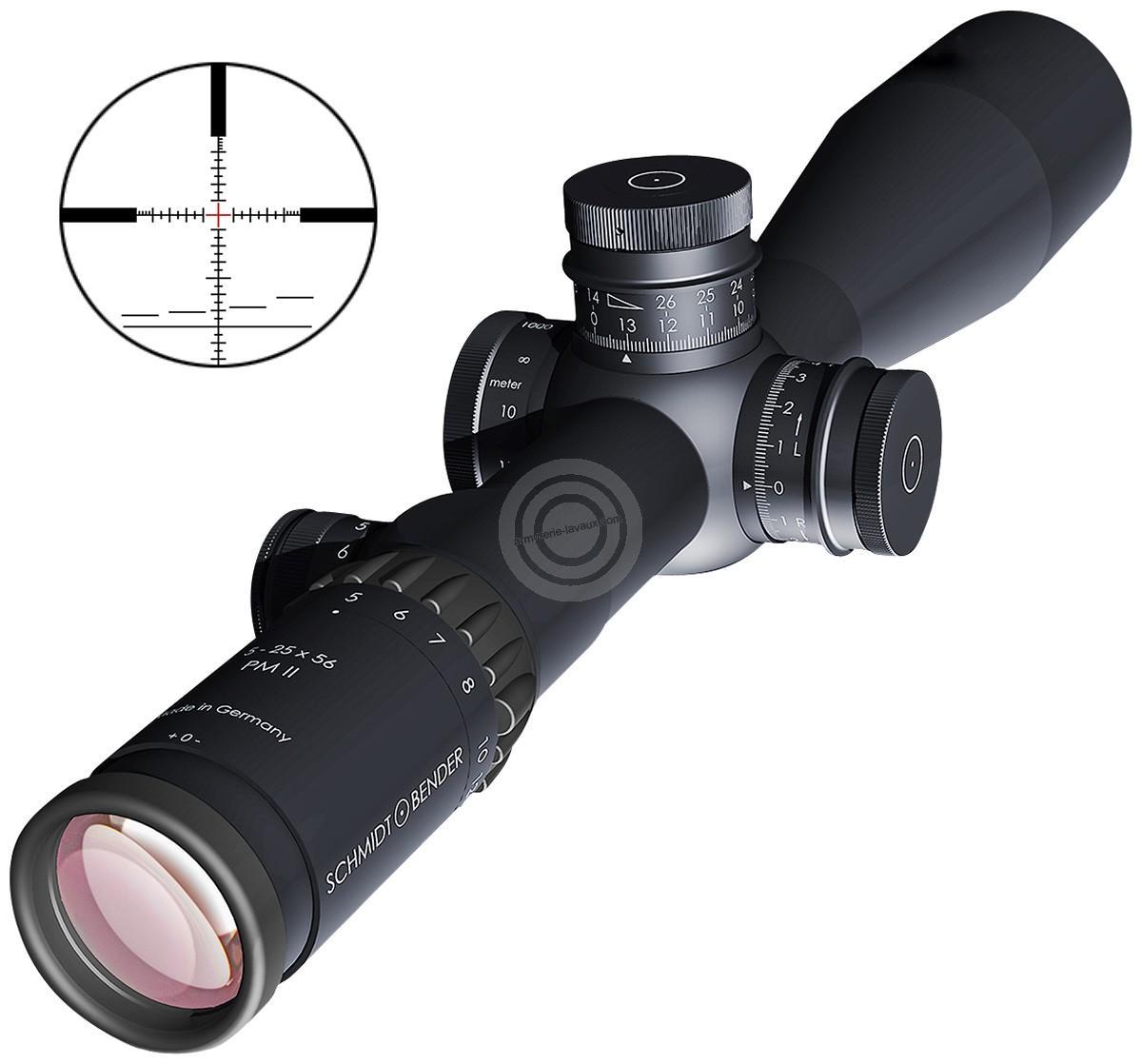 lunette schmidt bender 5 25x56 pm ii ret p4fl carabines de tir sur armurerie lavaux. Black Bedroom Furniture Sets. Home Design Ideas
