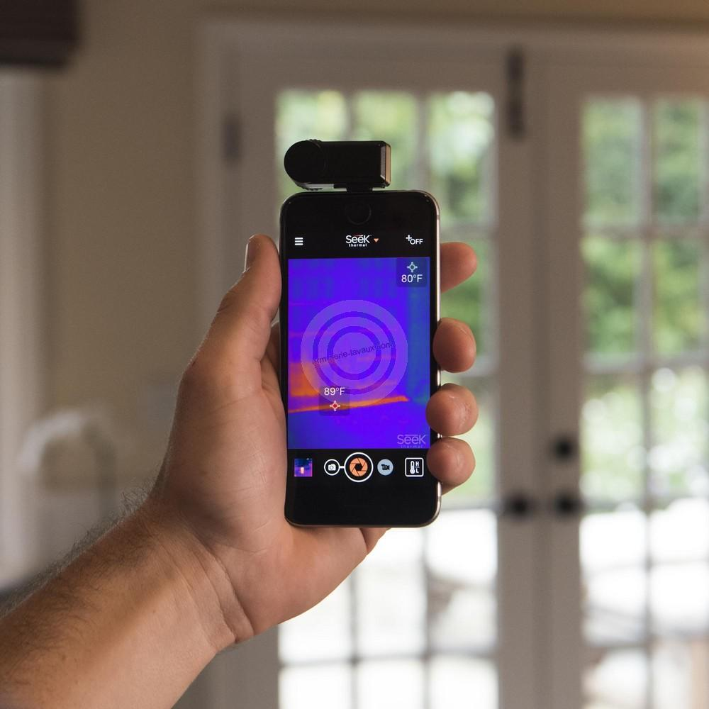 camera thermique seek xtra range pour iphone rayon chasse sur armurerie lavaux. Black Bedroom Furniture Sets. Home Design Ideas