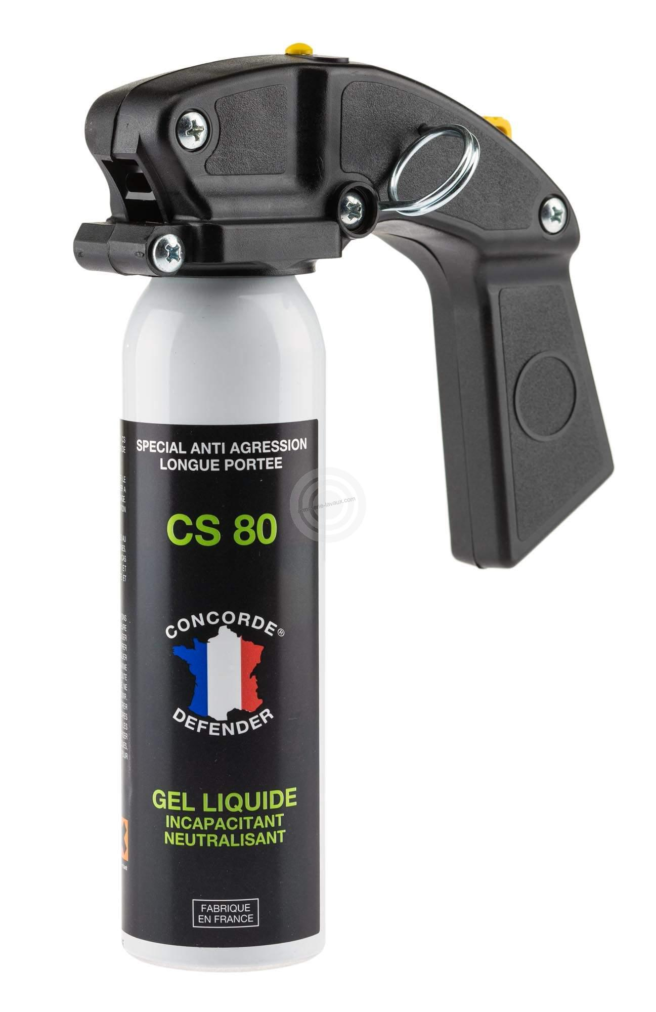 Bombe de d�fense GEL CS 80 - 100ml avec poign�e