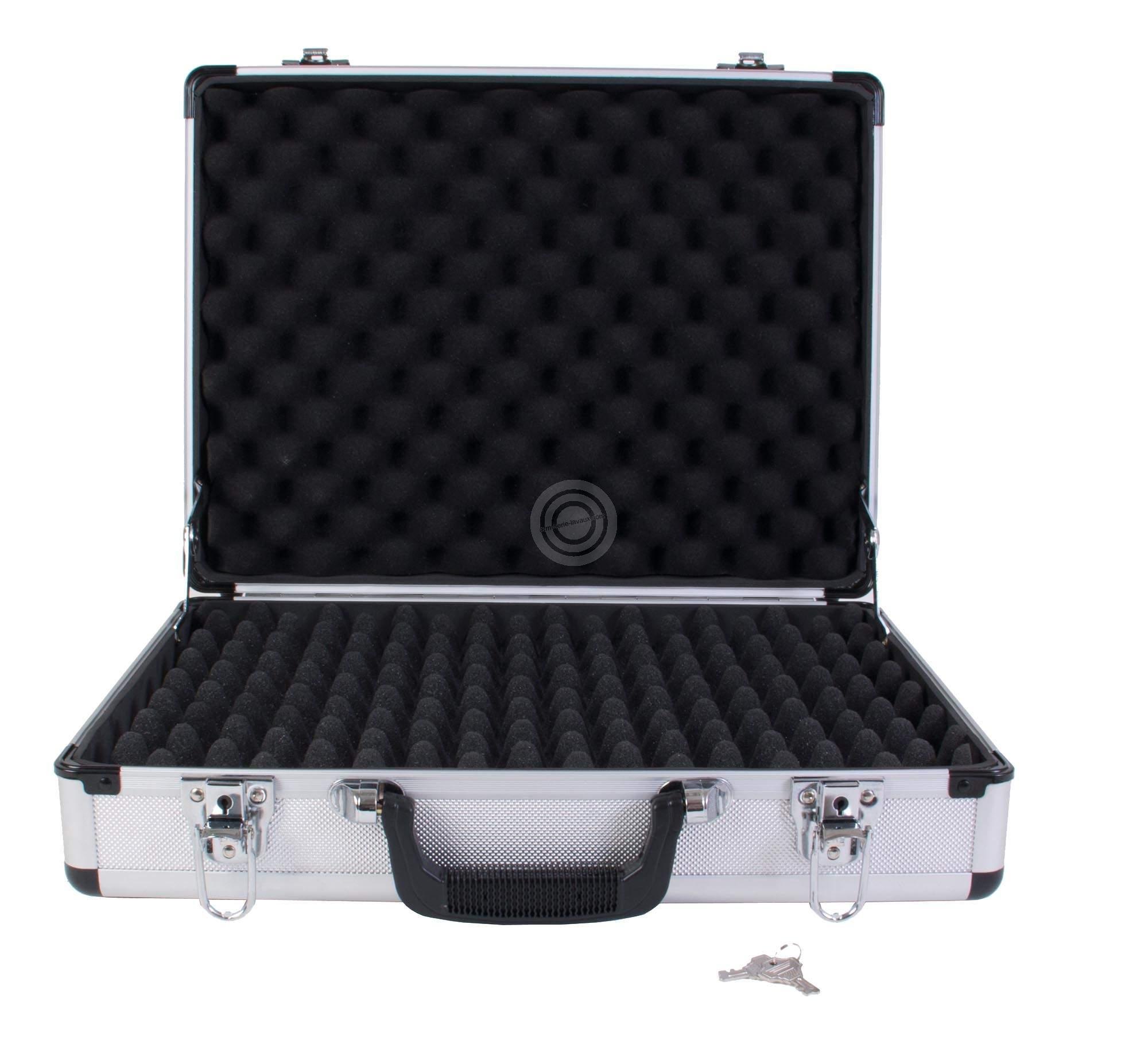 Valise aluminium pour armes de poing (46x25)