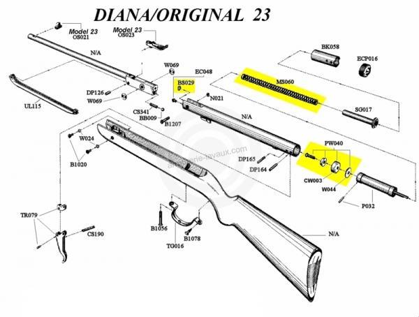 kit de compression diana carabine mod 22 - 23