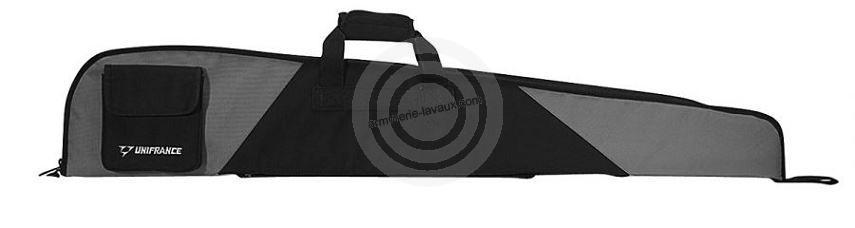 housse pour arme avec lunette unifrance grise 118 cm rayon chasse sur armurerie lavaux